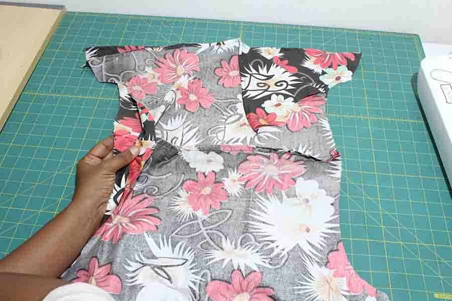 turn dress right sides out. Sew