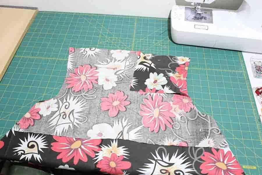 pin dress to facing