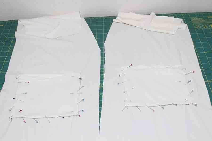 pinning robe rockets on main fabric