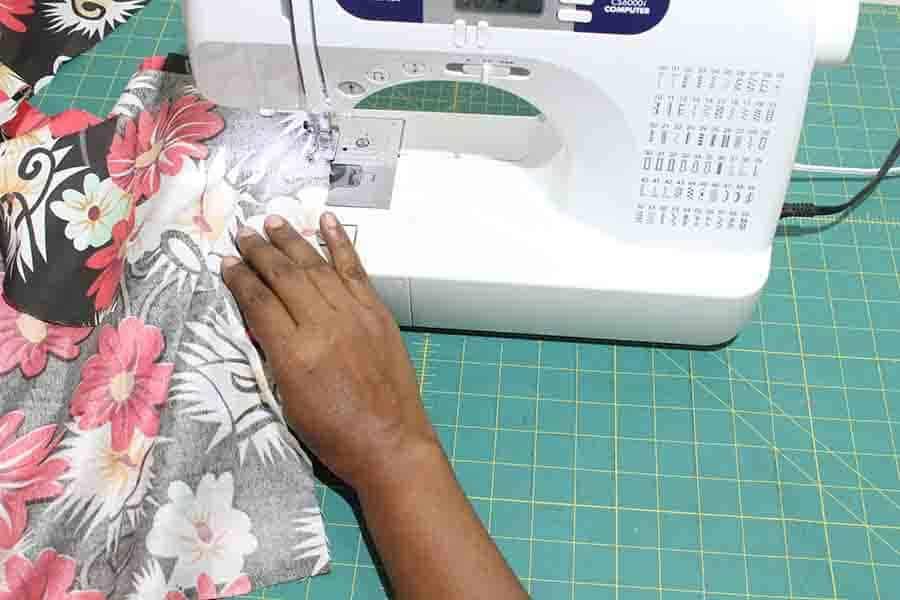 sew facing to neckline