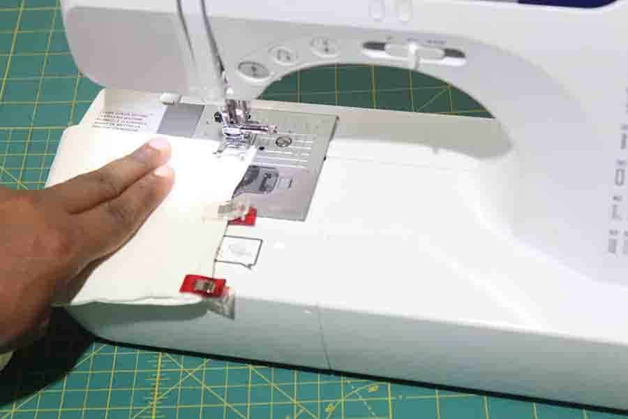 sew ends of robe belt