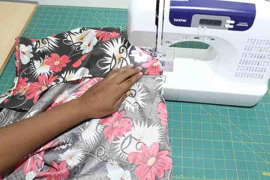 sew down side seams