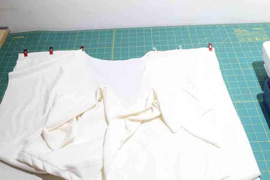 sewing robe shoulder seams