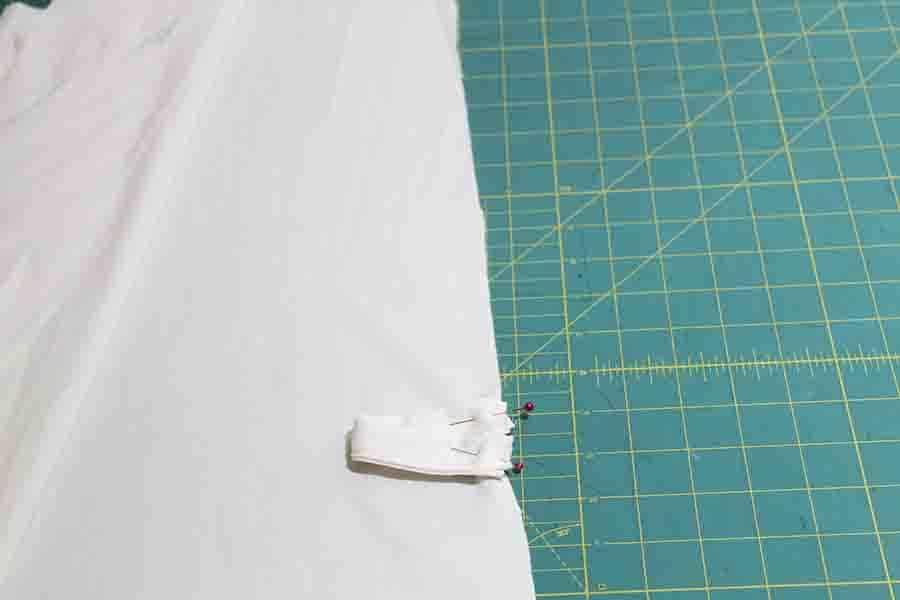 pinning belt loops to robe