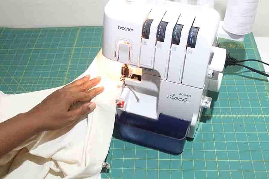 sewing binding to robe