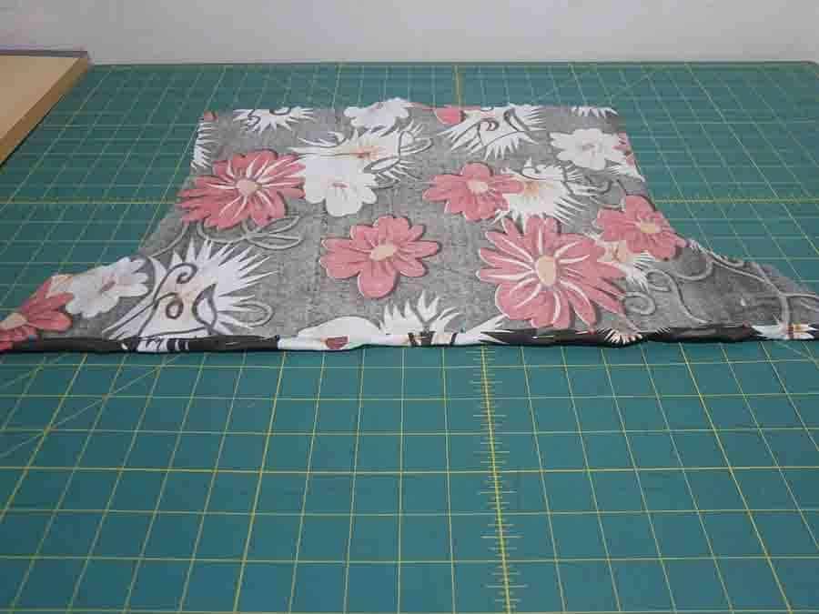 fold hem of facing and pin