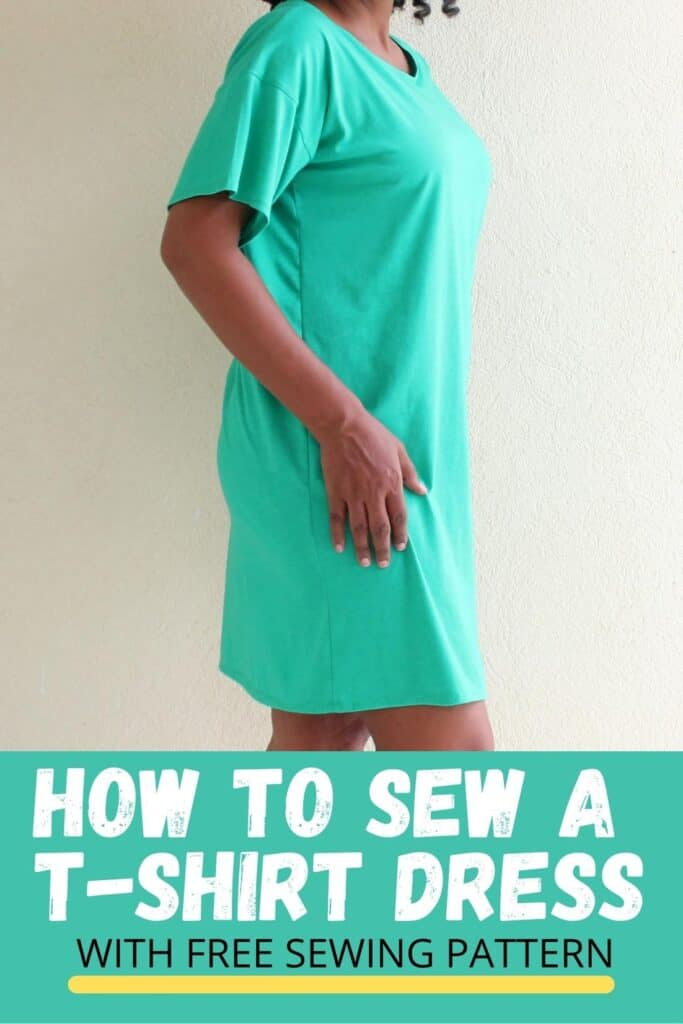 How To Sew A T-Shirt Dress With Free Sewing Pattern