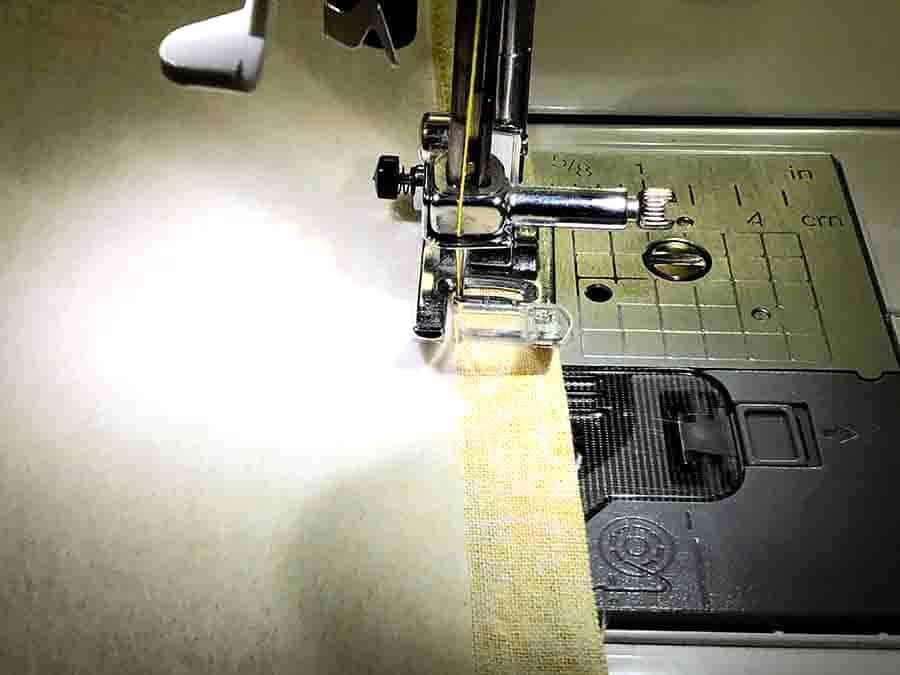 Sew around rectangles