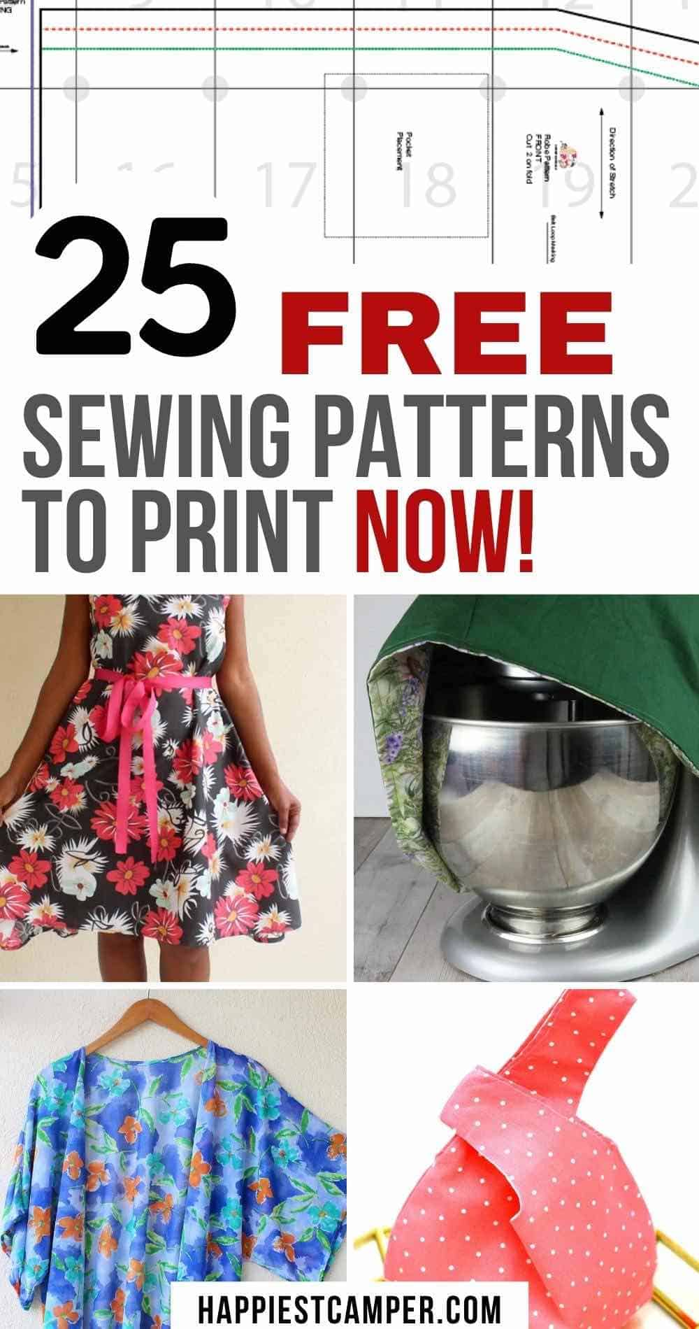 25 Free Sewing Patterns You can Download Now