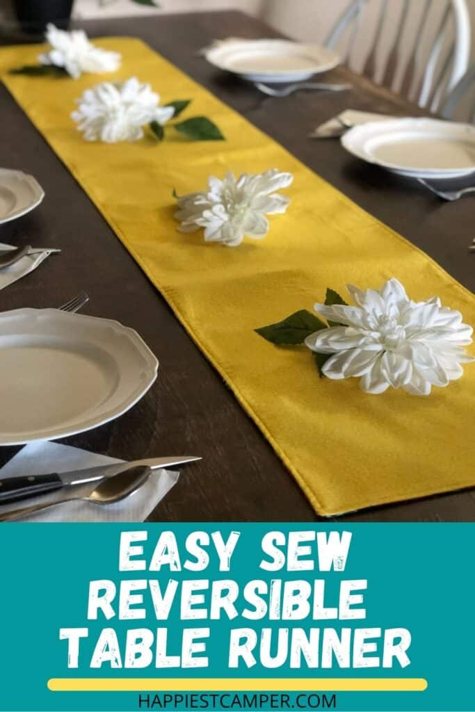 Easy Sew Reversible Table Runner