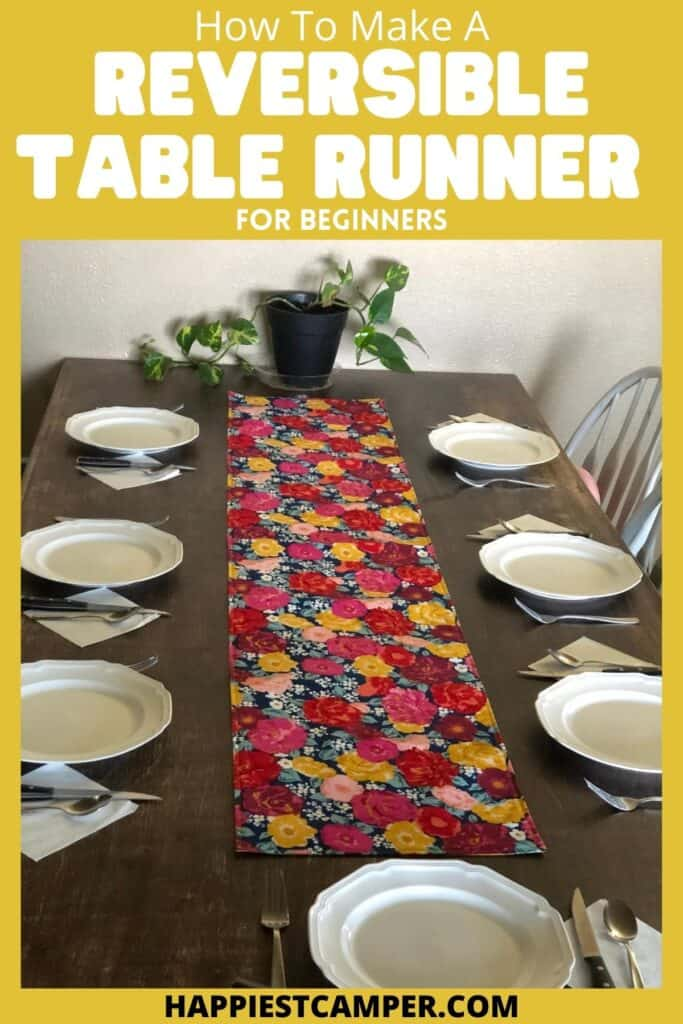 How To Make A Reversible Table Runner For Beginners