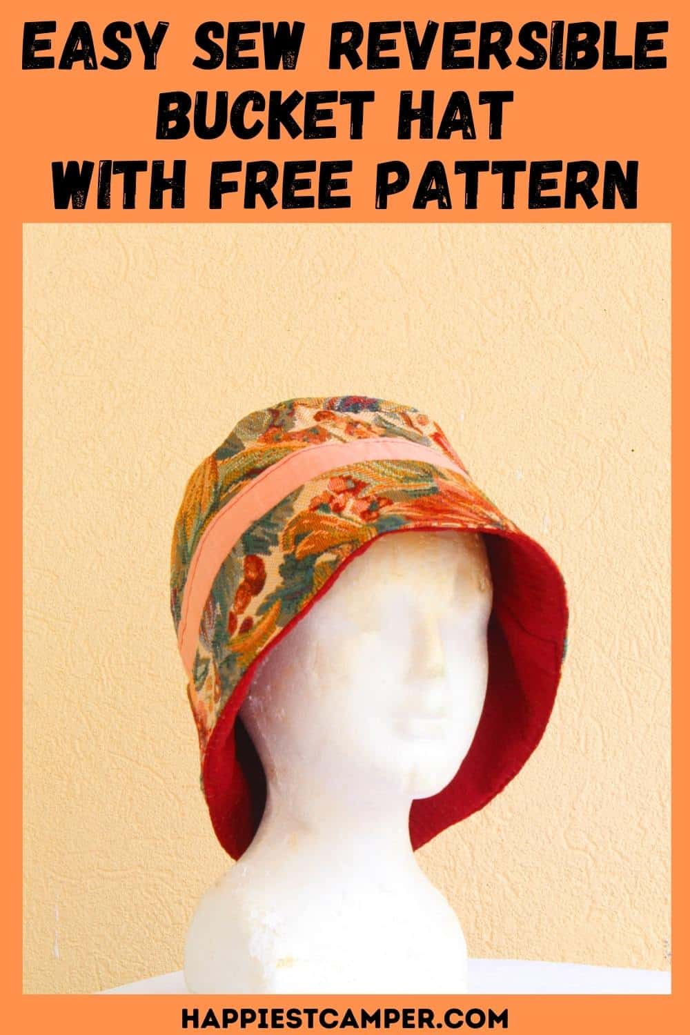 Easy Sew Reversible Bucket Hat  With Free Pattern