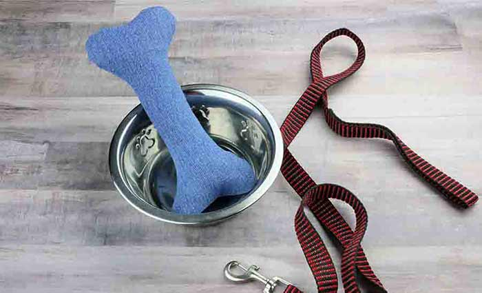 Easy Sew Dog Chew toy bone