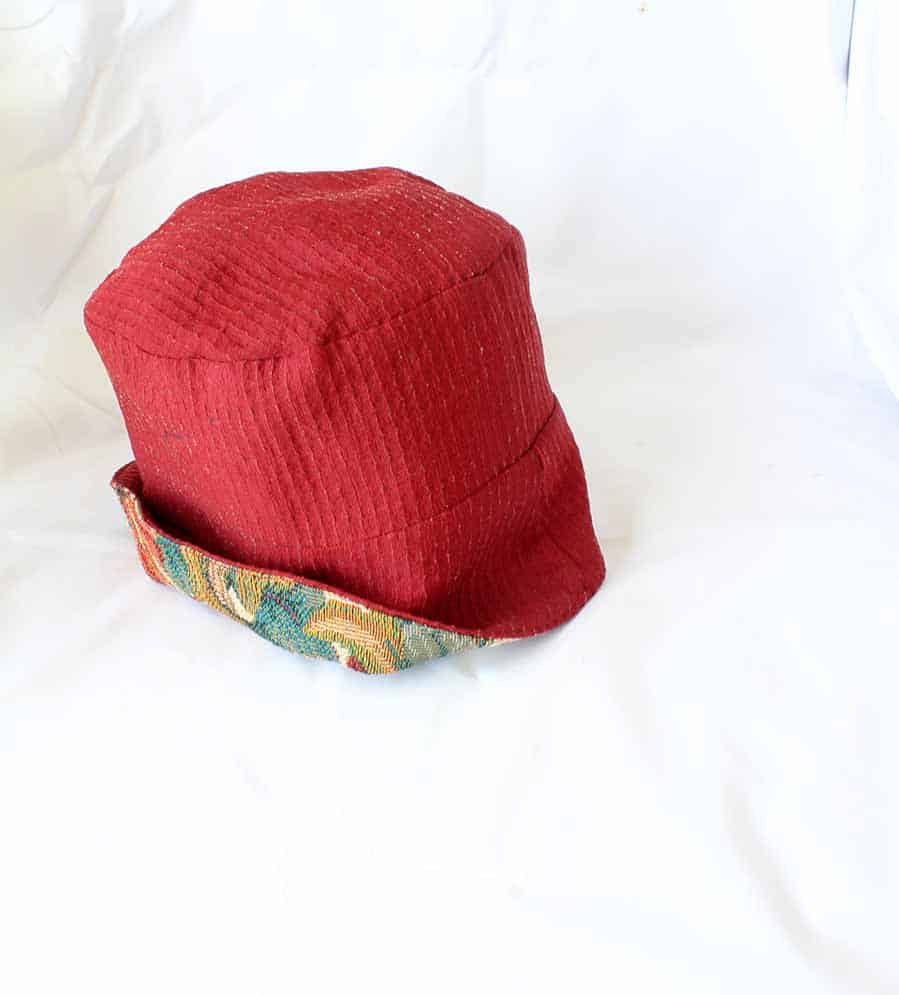 finished reversible bucket hat