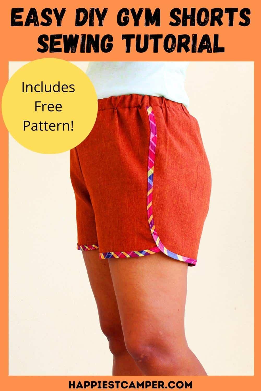 Easy DIY Gym Shorts Sewing Tutorial