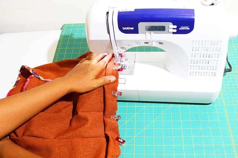sew, leaving gap for elastic