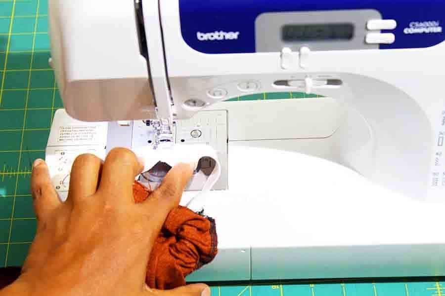 sew elastic together at short ends