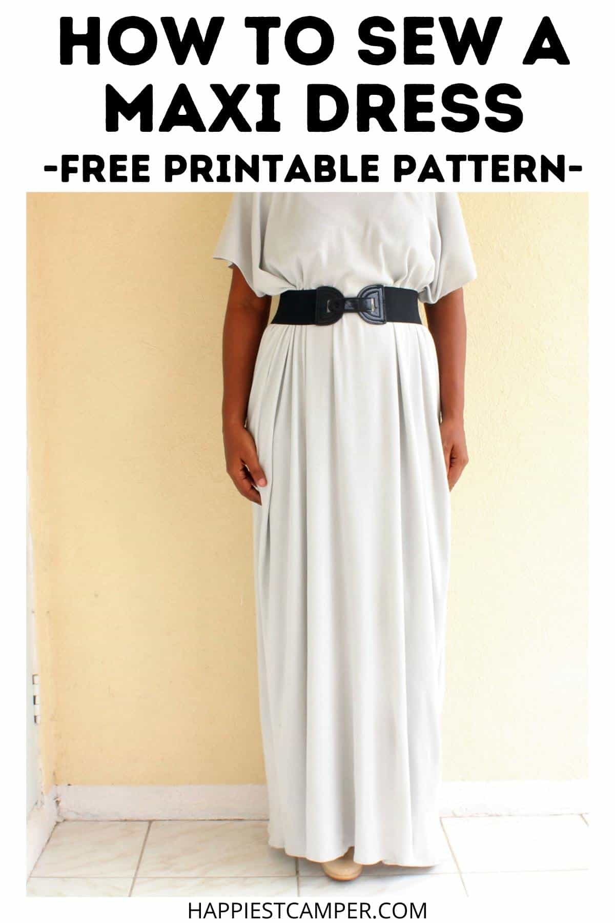 How To Sew A Maxi Dress - Free Printable Pattern