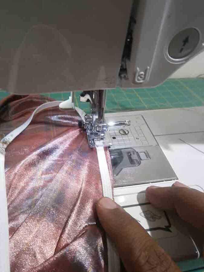 sew elastic to fabric