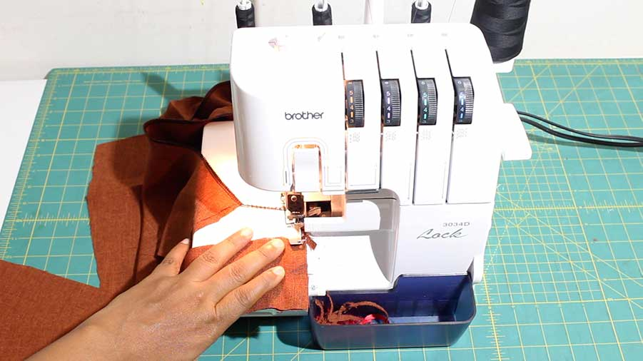 sew at short ends