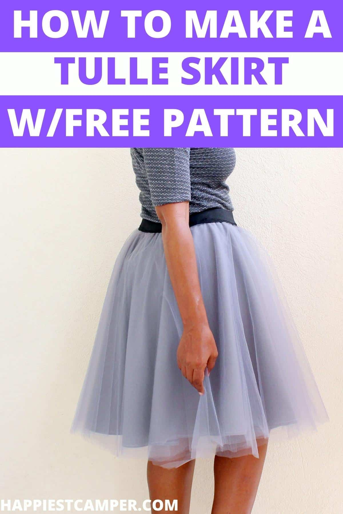 How To Make A Tulle Skirt With Free Pattern
