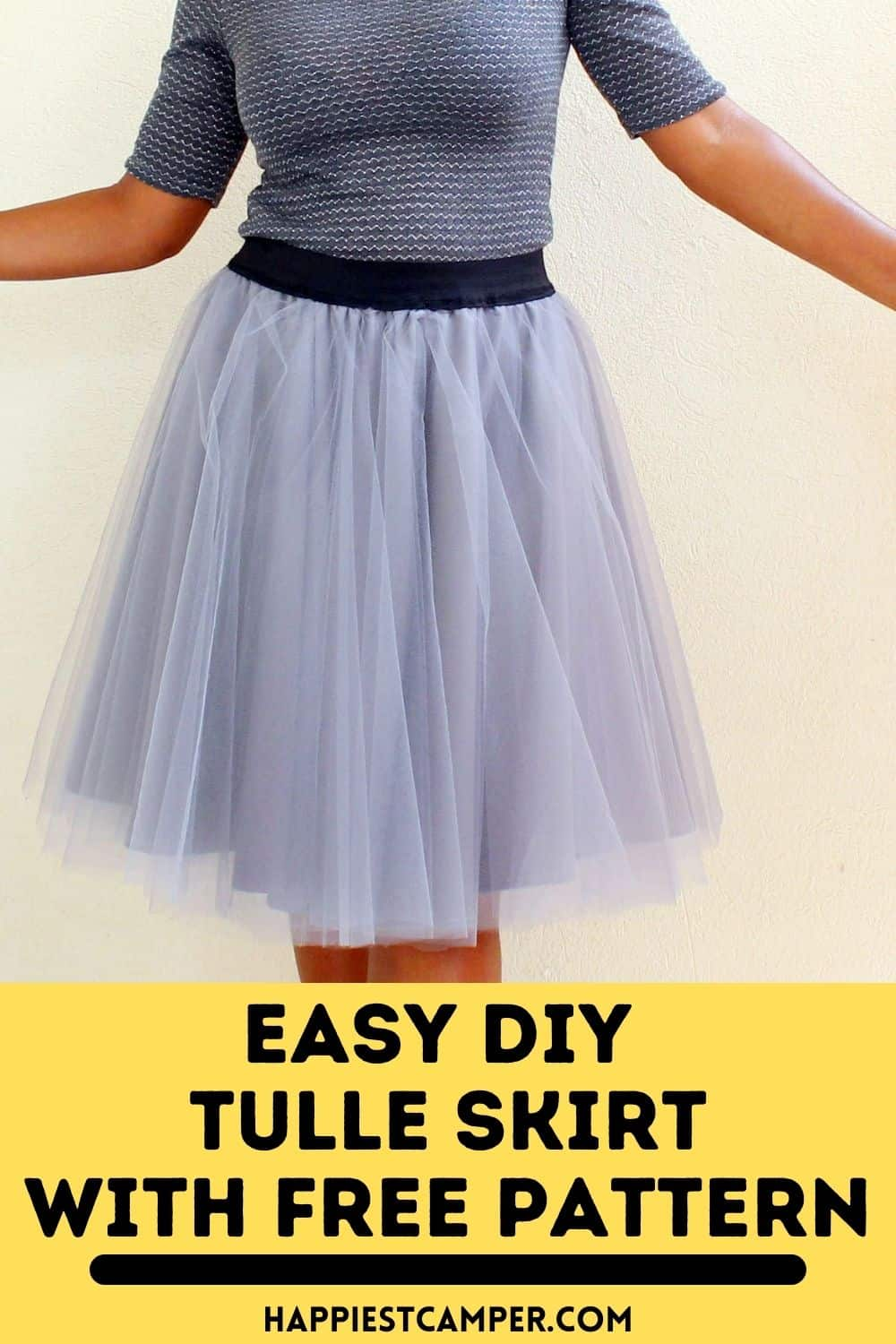Easy DIY Tulle Skirt With Free Pattern