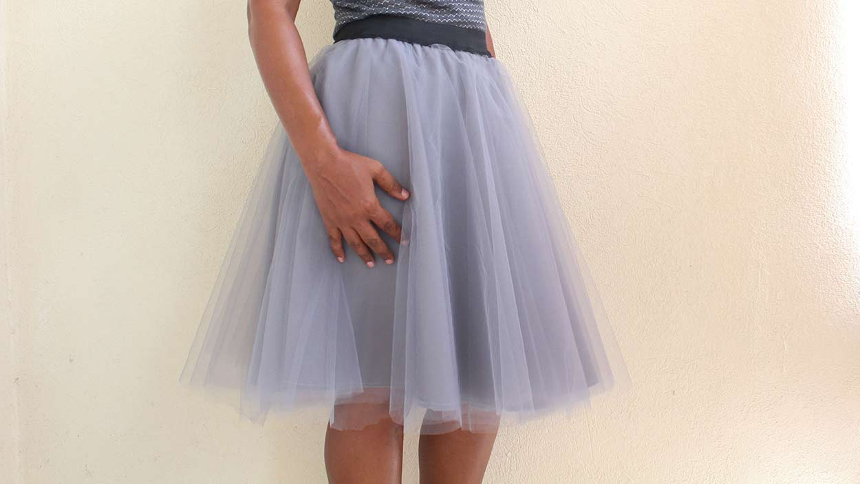 Tulle Skirt With Free Pattern