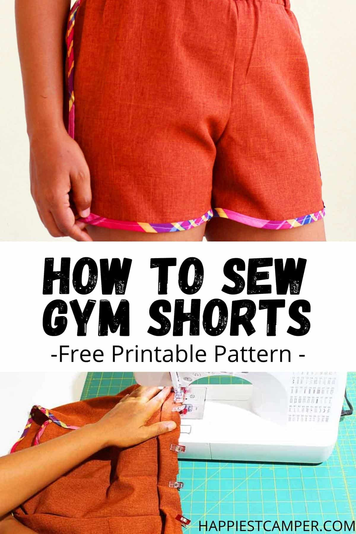 How To Sew Gym Shorts - Free Printable Pattern