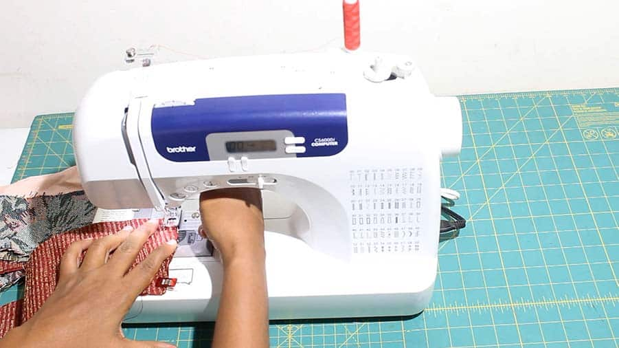 sewing trim for reversible bucket hat