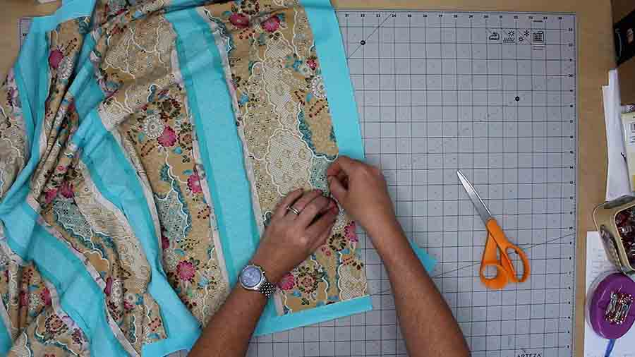 trim excess minky fabric