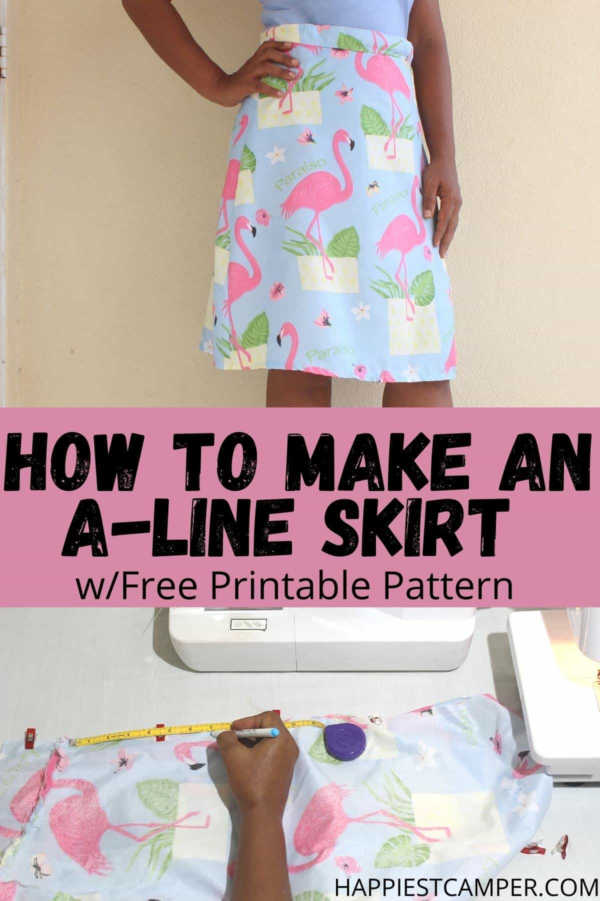 How To Make An A-Line Skirt With Free Pattern
