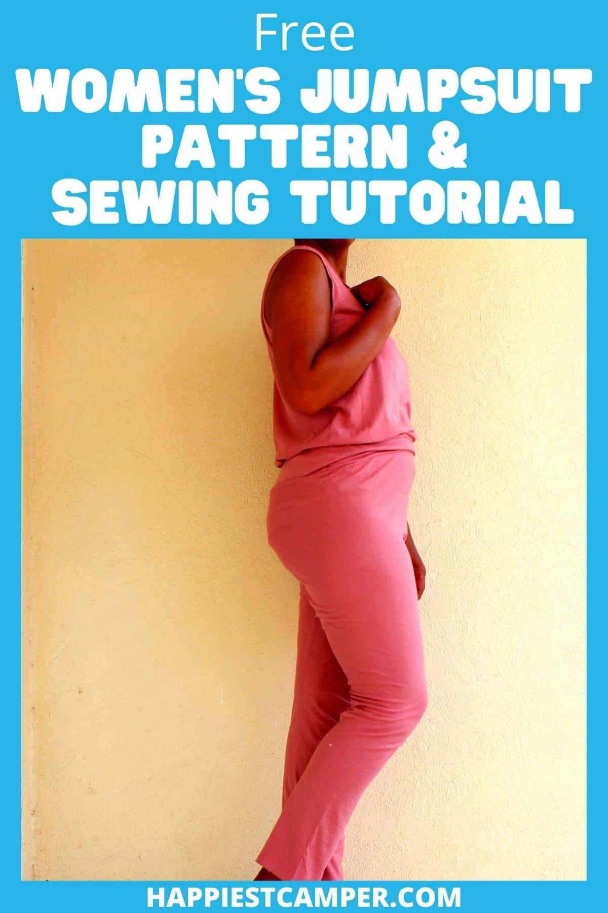 Free Women's Jumpsuit Pattern & Sewing Tutorial