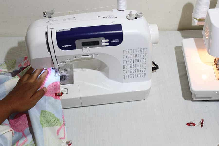 sew from mark to hem