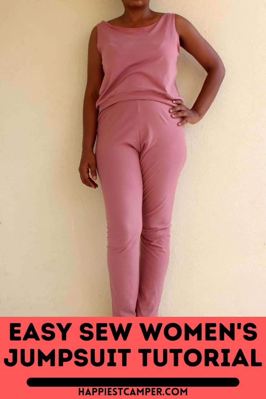 Easy Sew Women's Jumpsuit Tutorial