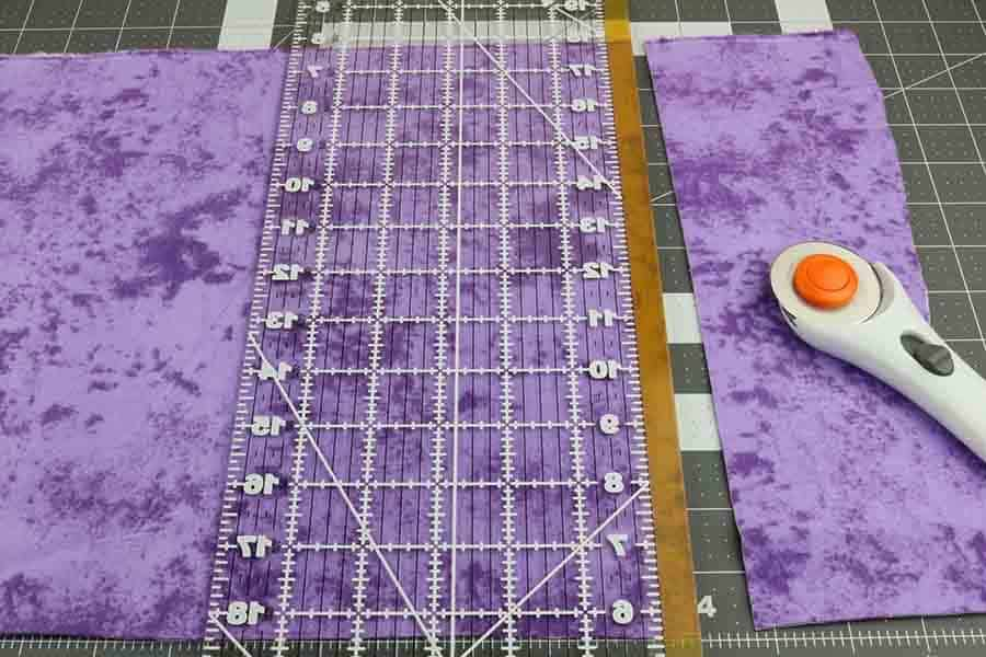 cut fabric for heating pad to size