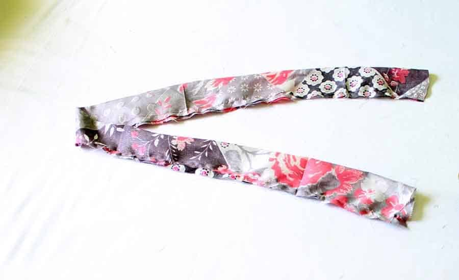 fold waist tie in half