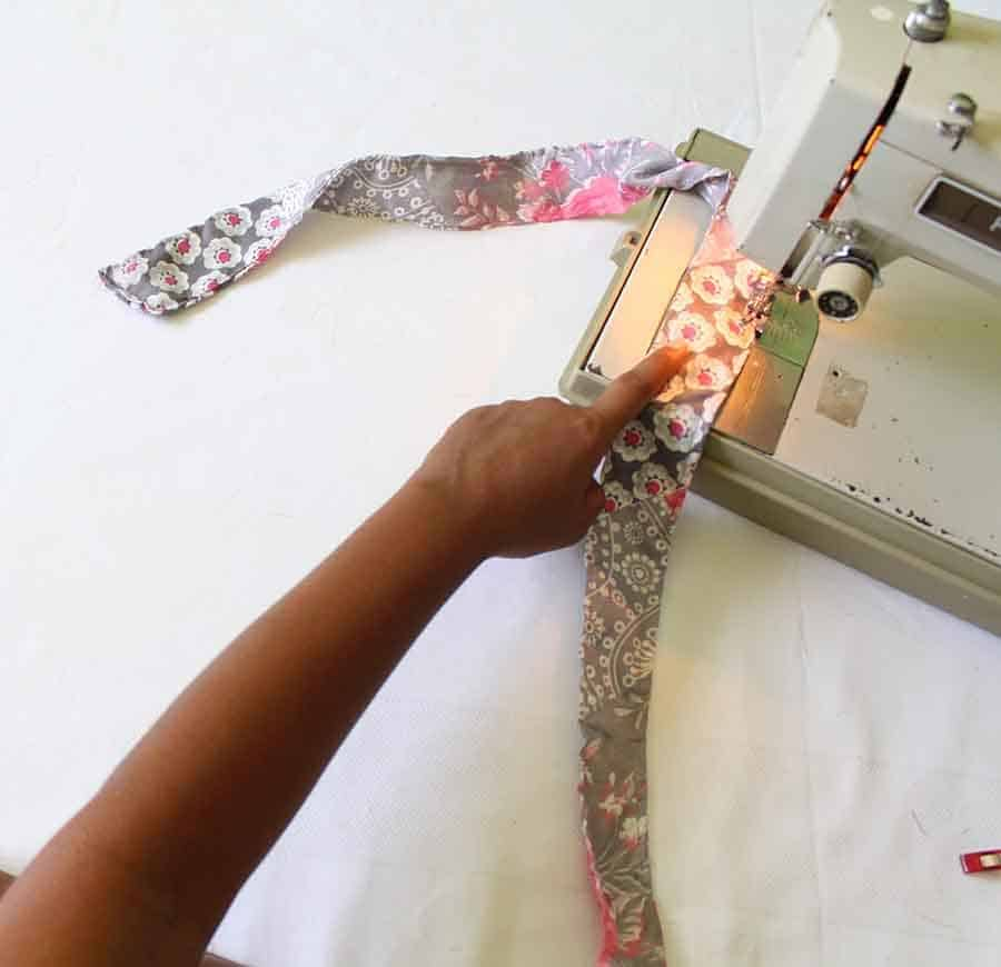 sew down ties for wrap dress