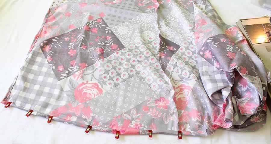 hem dress skirt by 1/2 inch