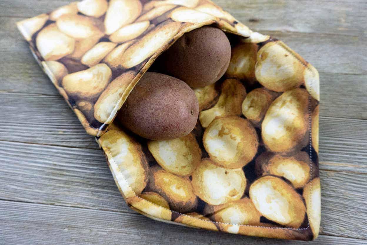 Microwave potato bag top photo