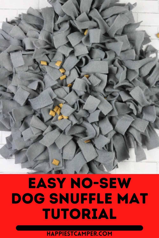 Easy No-Sew Dog Snuffle Mat Tutorial